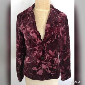 NWT Ann Taylor Purple Floral Size 2 Suit Jacket